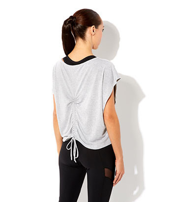 gymluxe-british-female-sportwear-cropped-drape-t-shirt-grey-back-view