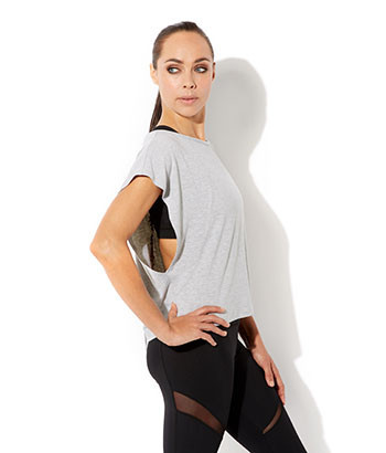 gymluxe-british-female-sportwear-cropped-drape-t-shirt-grey-side-view