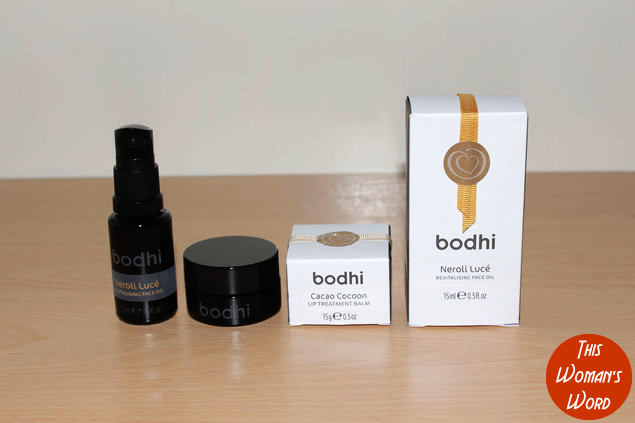 bodhi-skincare-cacao-cocoon-lip-treatment-balm-neroli-lucé-revitalising-face-oil-review
