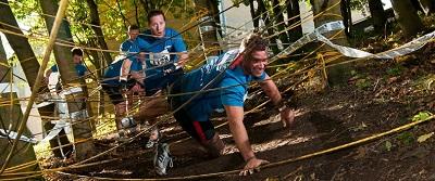 london-river-rat-race-10k-london-excel-centre-obstacles-scrim-tree-maze