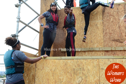dani-this-womans-word-bei-fit-team-breakin-boundrez-london-river-rat-race-shelter-charity-50ft-slide