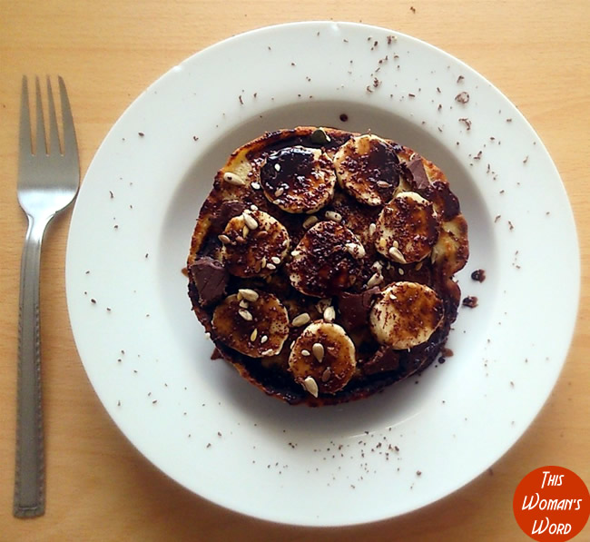 5-stack-gluten-dairy-and-refined-sugar-free-oat-pancakes-birds-eye-shot